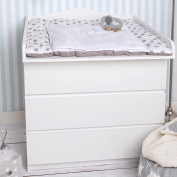 """Cloud 10cm Changing table top, changing set for IKEA Malm dresser"