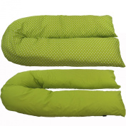 iSafe Pregnancy Maternity And Feeding Pillow - Lime & Stars