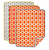 Klippan Cotton Baby Blanket - Flower Power Orange