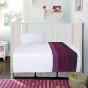 COT BED DUVET COVER WITH PILLOWCASE- SUPERIOR NATURAL COTTON RICH WITH HAND STICHED APPLIQUE WORK 120 X 150 CM - MARYAM PURPLE