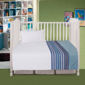 COT BED DUVET COVER WITH PILLOWCASE- SUPERIOR NATURAL COTTON RICH WITH HAND STICHED APPLIQUE WORK 120 X 150 CM - PAULA BLUE