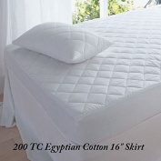 """Extra Deep 16""""(40cm) Quilted Mattress Protector 200 Threat Count Hotel Quality By """" Textile.Plus"""""""