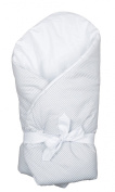 Vizaro - Swaddle Wrap for newborn - 100% Luxury Cotton - Grey Stripes Collection - White & Grey Colours - Tested against harmful substances - Made in EU