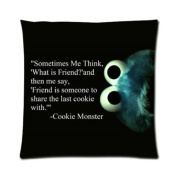 Custom Cute Cookie Monster Big Eyes Frog Pillowcase Standard Size 16x16 Design Soft and Comfortable Pillowcase Cushion Case