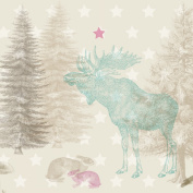 "anna wand® design - Extra large Wallpaper Border ""Forest Animals"" 450 x 46,5 cm, self-adhesive"