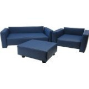 "Kindersofa Sitzgruppe "" Tony "" Kunstleder blau / Made in Germany / Handarbeit/!!"