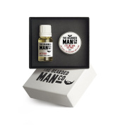 The Bearded Man Company - Set Of Two Beard Oil And Moustache Wax Vetiver Gift Boxed