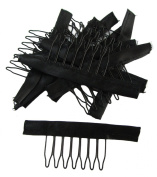 PeiGee 10/20/30/50pcs Wig Combs 7 Teeth Close with Wrap Lace Cap Clip for Glueless Lace Wig Accessories More Convenient Safe and Stable