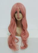 Ladieshair Vocaloid Luka Cosplay Wig Curly Pink 80 cm