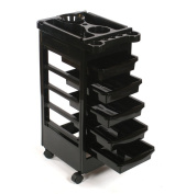 TekNoh - 6 Tier - Classic Salon Storage Trolley - Hairdressers Hairdressing Spa Hair Stylist Beauty Barber