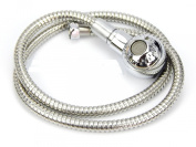 Chrome Showerhead - Shower Head Hose Spray Sprayer Salon Hairdresser Sink Basin Hotheadz Hose Backwash Back Wash Bowl