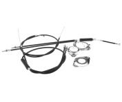 New Full Set BMX Gyro Brake Cables Front Rear (Upper + Lower) + Spinner Rotor