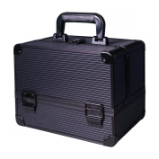 EZI Black Aluminium Beauty Box Cosmetic Storage Make Up Jewellery Saloon Case