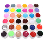 DANCINGNAIL 36 Colours Mix Pure Colours UV Gel Kit DIY Nail Art