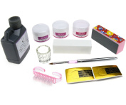 Powders Buffer Forms Brush Acrylic Nail Art Set Kit