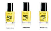 3 x Avon Speed+ Dry Nail Enamel - SUDDENLY SUNNY