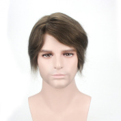 Lordhair Human French Lace Hair Replacement System with PU on Sides and Back Colour 5
