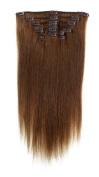 American Pride | Clip In Hair | Human Hair Extensions | Full Head | 60cm Light Brown