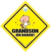 Grandson On Board Car Sign, Grandson, Grandchildren, Car Sign, Baby On Board Sign, baby on board, Novelty Car Sign, Baby Car Sign