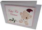 white cotton cards Value Range Baby's First Christmas Gingerbread Man Design Christmas Tiny Value Album