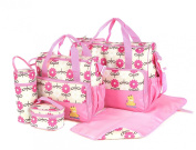 Laminated Water Proof Insulated Thermal 5pcs Baby Nappy Changing Hospital Bag
