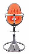 Bloom Fresco Chrome Contemporary High Chair Mercury/Harvest Orange [Special Edition]