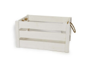 Rustic White Wooden Crate - Medium