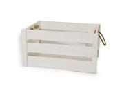 Rustic White Wooden Crate - Medium