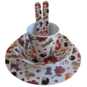 woodland creatures melamine set