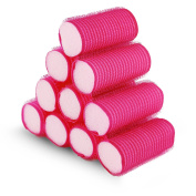 10 Pink Softhook and loopHair Rollers Perfect For Sleeping In Curling Accessory