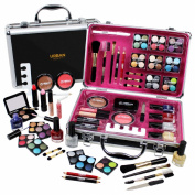 Professional Vanity Case Cosmetic Make Up Urban Beauty Box Travel Carry Gift 57 Piece Storage Organiser - Eyes Lips Face Nail