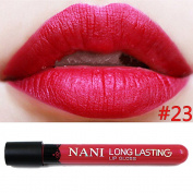 Neverland Waterproof Liquid Makeup Lip Pencil Matte Lipstick Lip Gloss Super Long Lasting 23#