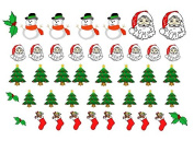 Easy to use nail art transfer stickers Christmas