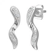 Naava 0.03 Carat Diamond Drop Earrings in 9ct White Gold