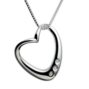 Hot Diamonds Swept Away Silver and Diamond Pendant with Chain of 42-45cm