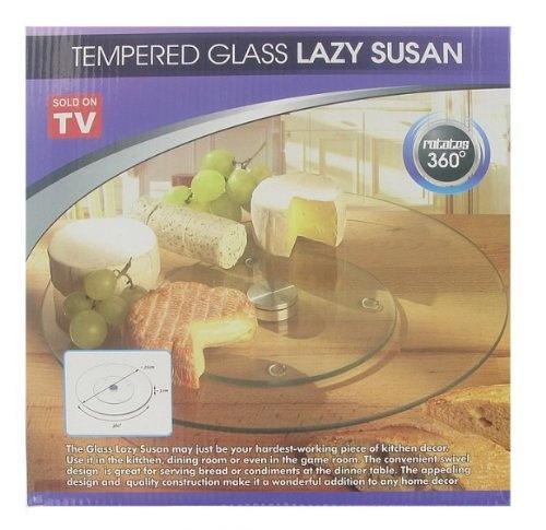 Cake Decorating Lazy Susan : LAZY SUSAN CAKE DECORATING DECORATE TEMPERED GLASS NEW ...