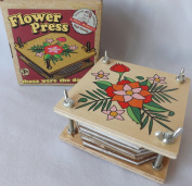 Rustic Wooden Vintage Style 10cm Flower Press