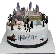Stand Up Harry Potter Scene Premium Edible Wafer Paper Cake Toppers