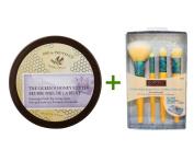 European Soaps, LLC, Pre de Provence, The Queen's Honey Butter, 6.76 fl oz (200 ml), EcoTools, Four-Piece Beautiful Complexion Set, 4 Brushes