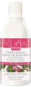 Janice Goat's Milk and Argan Oil Body Wash, Rose Petal, 13.52 Fluid Ounce