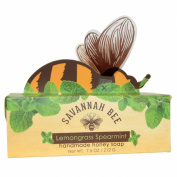 Savannah Bee Company Inc Honey Bar Soap, Lemongrass Spearmint, 220ml