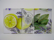 La Florentina Lemon Lavender Luxury Italian Soap Set, 3 x 160ml, Imported From Italy