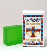 Southwestern Soapworks Eucalyptus and Aloe Handmade Glycerin Soap 70ml