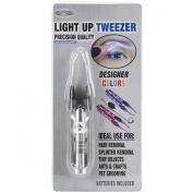 Led Light Up Tweezer-Silver