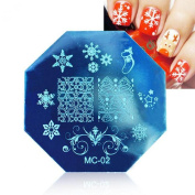 Sannysis Christmas Nail Stamping Printing Plate Manicure Nail Art Decor Image Stamps Plate