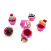 Adorox Scented Novelty Cupcake Lip Gloss Lip Balm Makeup Girls Birthday Party Favours (Assorted