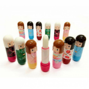 LKE 4pcs Natural Plants Lip Balm Nourishing Moisturising Aromatic Crack Multicolour and Wind Doll Lip Balm