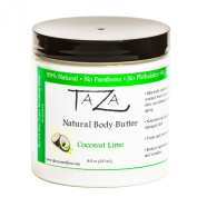 Premium Taza Natural Coconut Lime Body Butter, 8 fl oz (237 ml) ♦ Gives You Intense Hydration For Glowing Skin ♦ Contains