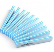 10pcs Square Sponge Nail Buffer Sanding Block Buffing Files DIY,Light Blue by Nail World365