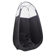 Airbrush Tanning Tent Black Pop Up Sunless Tanning Booth with Clear Top by AV Prime Inc.
